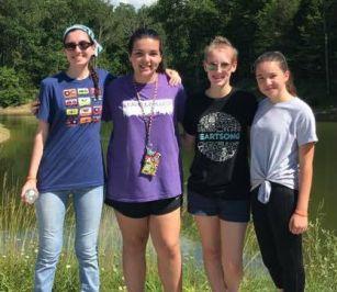 4 girls at lake cropped